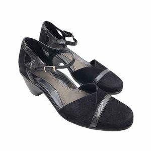 DANSKO   Ankle Strap Dress Shoes   Black   Size 11